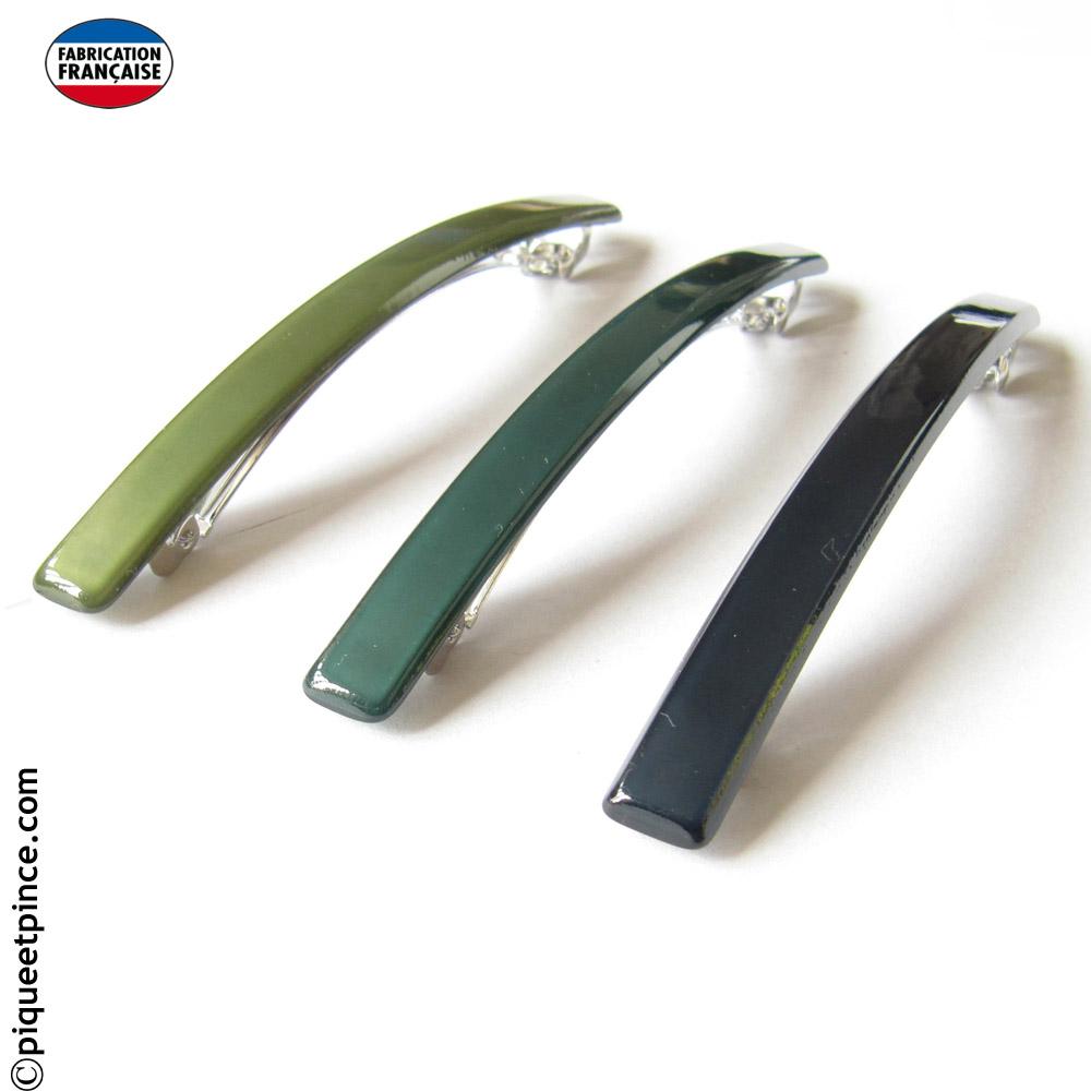 Barrettes cheveux bleue ou vertes fabrication Française