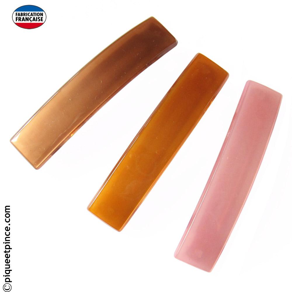Barrettes cheveux couleur Fabrication Française