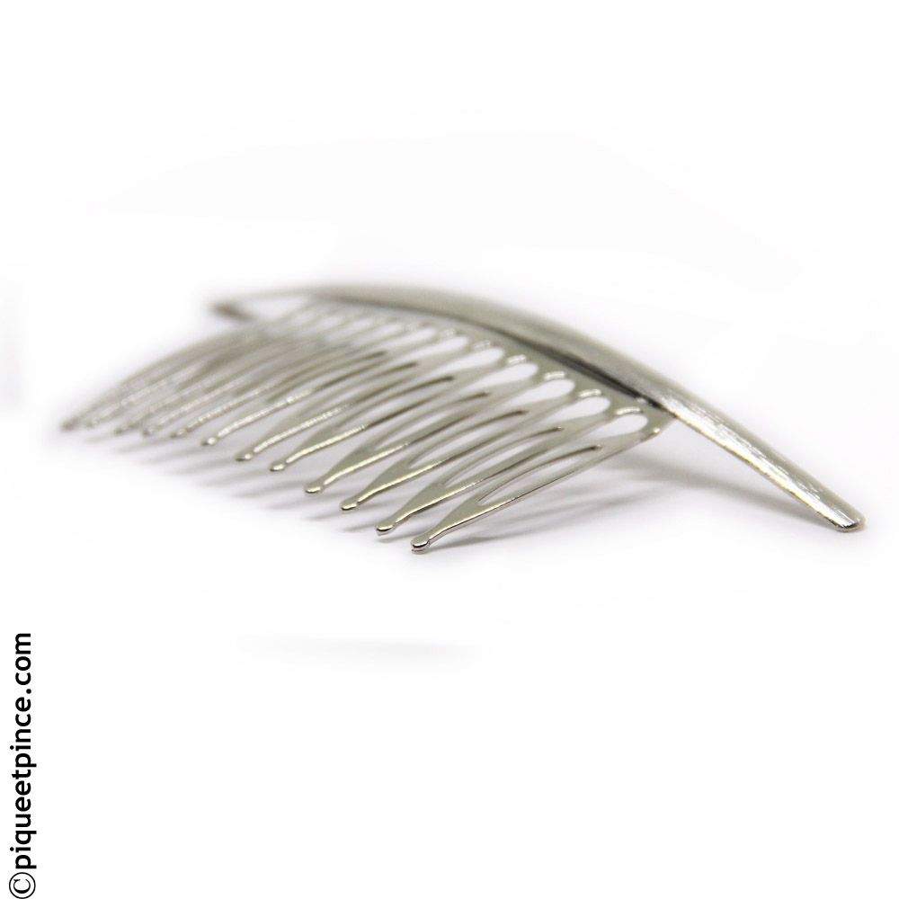 peigne bijou métal argenté