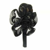 Serre-tête fleur noire