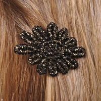 barrette cheveux fleur noire