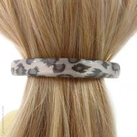 Barrette à cheveux effet python