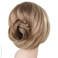 Pic à cheveux mini fleur strass