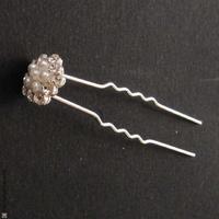 pic cheveux fleur perles et strass