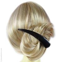 pince à cheveux métal large noire