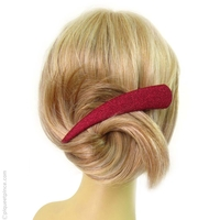 Pince à cheveux rouge granité