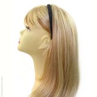 Serre-tête cheveux tissu chevron gris foncé