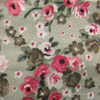 bandeau cheveux beige fleurs roses