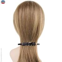 barrette cheveux fine écaille claire et noire