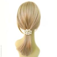 élastique cheveux perles
