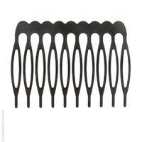 Petit peigne à cheveux en métal noir