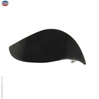Grande barrette à cheveux noire vague