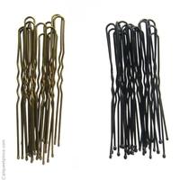 Grandes épingles à cheveux métal noir ou bronze