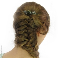 Peigne cheveux vert Cantate