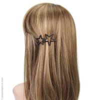 barrette cheveux strass étoiles noires