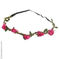 headband  fleurs fushia