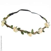 Headband  couronne petites fleurs blanc cassé ou améthyste