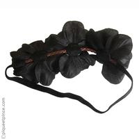 Headband couronne de fleurs noires
