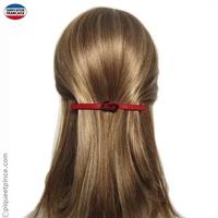 Barrette cheveux noeud rouge