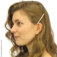 Barrette cheveux petites perles blanches