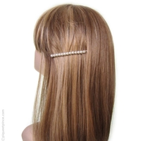Barrette cheveux perles blanches
