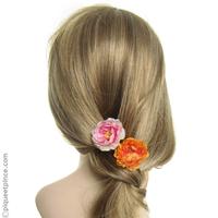 Pic cheveux fleur colorée