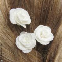 fleurs blanches pour coiffure de mariage