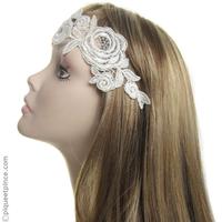 Headband mariage dentelle rétro