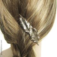 Bijou de cheveux feuilles Champagne