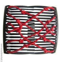 Peigne brésilien élastique rouge
