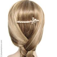 peigne fleur perles et strass