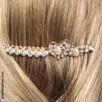 peigne mariage coeur strass et perles