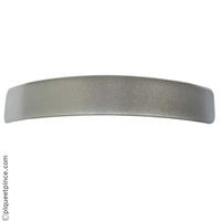 Barrette cheveux gris métalisé