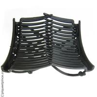 Peignes noirs et élastique noir
