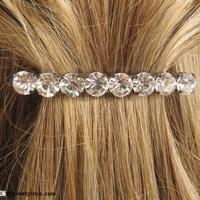 barrette cheveux strass et métal argenté