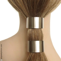 élastiques cheveux métal argenté