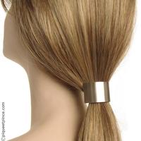 Élastique cheveux et pièce en métal argenté