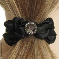élastique cheveux noir et strass