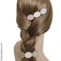Barrette cheveux or et pastel
