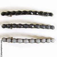 Fine barrette vintage déclinaison noir et gris