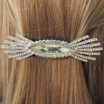 barrette à cheveux  swarovski  soleil