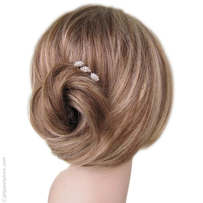 pics cheveux mariage perles et strass