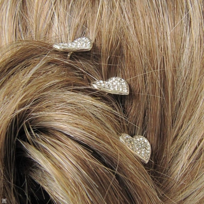 pics cheveux coeur strass