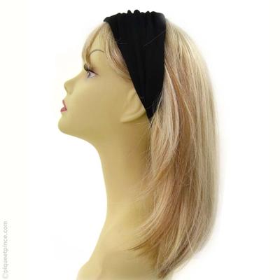 bandeau cheveux noir large