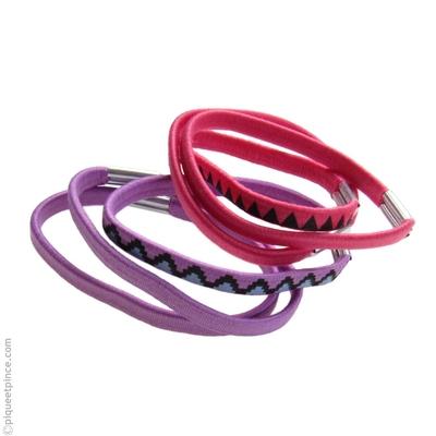 élastiques cheveux lilas et framboise
