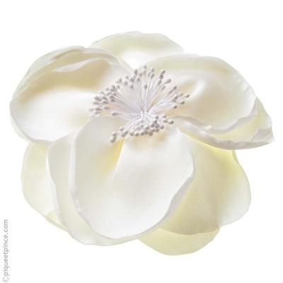 Pince cheveux fleur blanche