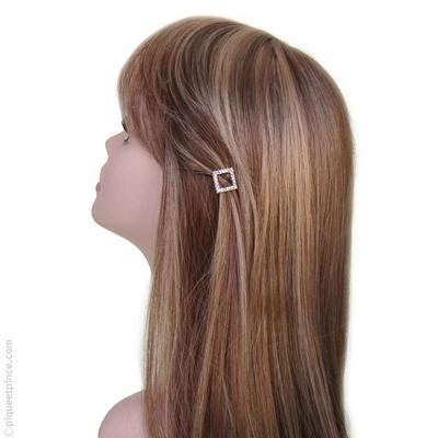 barrette a cheveux petit carré strass