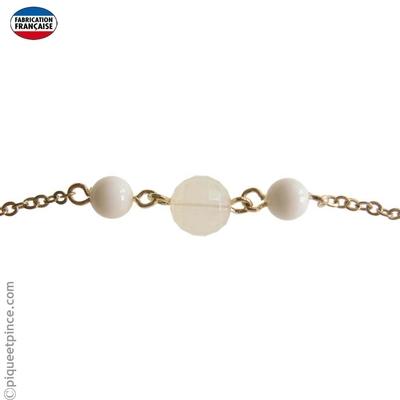 headband perles et chaine dorée