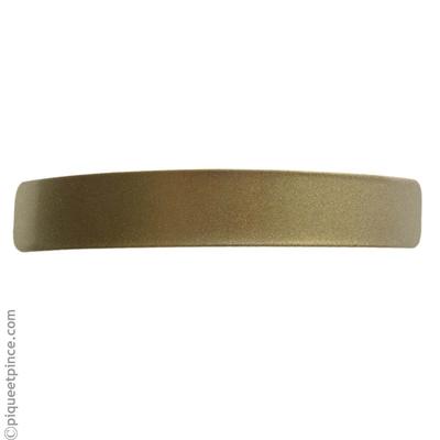 Barrette métal or