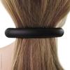 Grande barrette cheveux en gomme noire